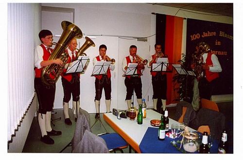 2002 - Jubiläum 100 Jahre Blasmusik
