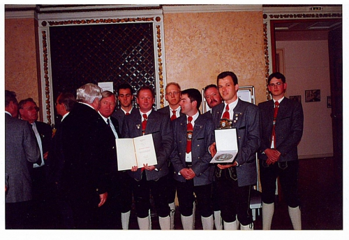 Gruppenfoto mit Minister Zehetmair