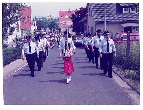 1982 - 80 Jahre Blasmusik - Festzug - Feuerwehr