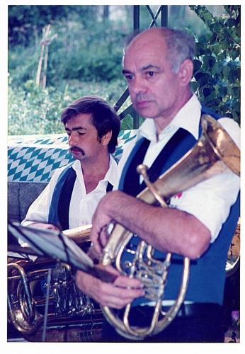 1983 - 1. Gartenfest - Hans u. Richard