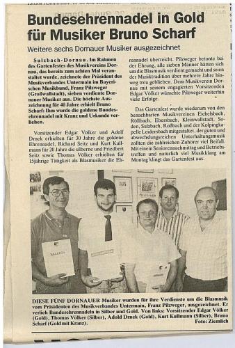 1990 - Ehrung aktiver Musiker