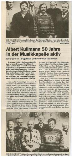 1991 - Ehrung aktiver Musiker