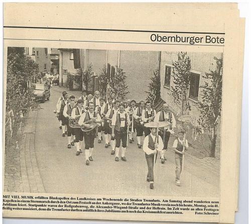 1992 - Festzug 40 Jahre MV Trennfurt