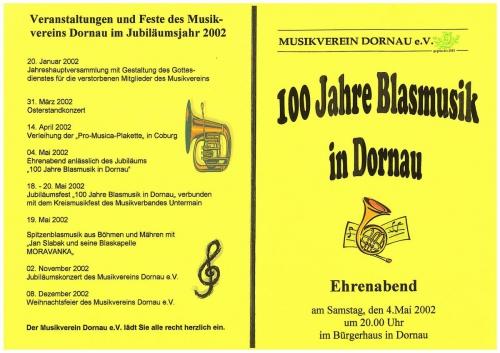 2002 - Programm Jubiläumsabend