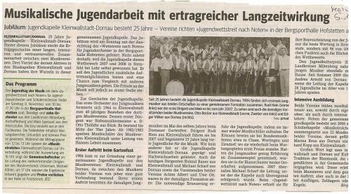 2009-25 Jahre Jugendkapelle