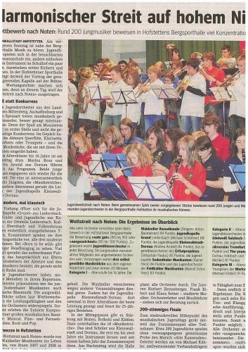 2009-Wettstreit nach Noten 25 Jahre Jugendkapelle